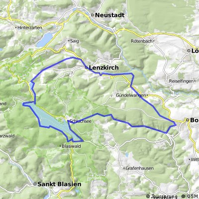 Bonndorf - Schluhsee - Lenzkirch a zpět