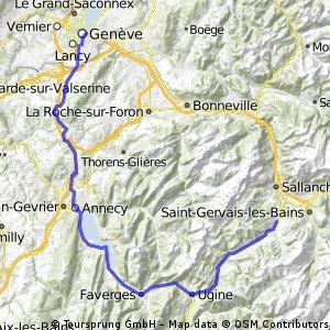 High Alps - Day 1 - Geneva to Megeve