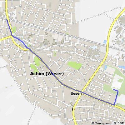 Anfahrt Bikepark Achim (von BF Achim)