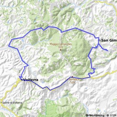 San Gimignano - Volterra