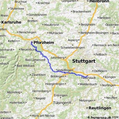 Pforzheim - Filderstadt-Bernhausen (Flughafen)