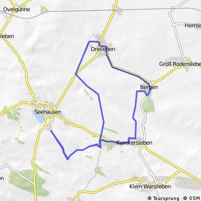 22 km Bördetour über Meyendorf, Dreileben, Bergen, Remkersleben