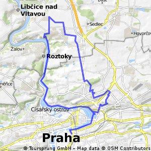 Kristianus-Na Pořičí-Vltava-Přemyšlení-Dolní Chabry-Střížkov-Thomayerovy sady a zpět