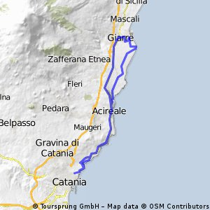 Catania jonica per Giarre