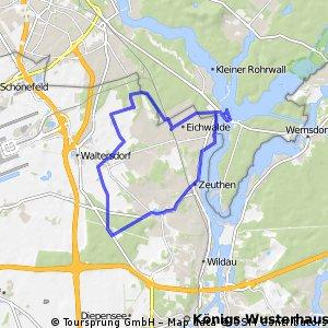 Eichwalde: Über die Flutgrabenaue nach Zeuthen