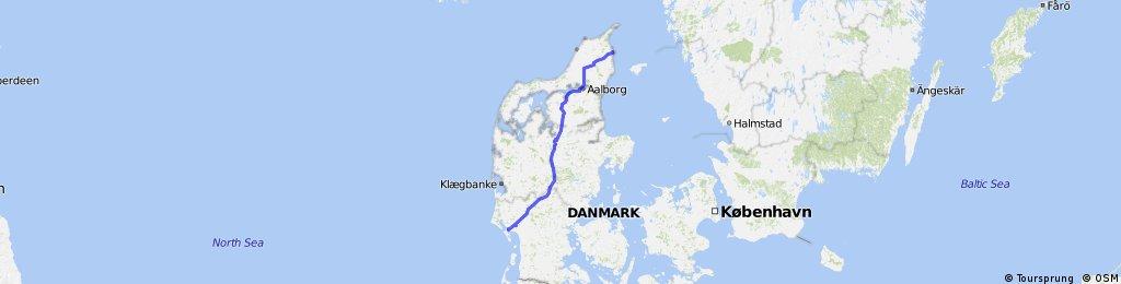 Esbjerg to Frederikshavn | Bikemap - Your bike routes