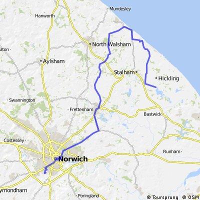55km to Hickling