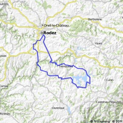 MVCB  Tour du Lac de Parloup départ d'Olemps