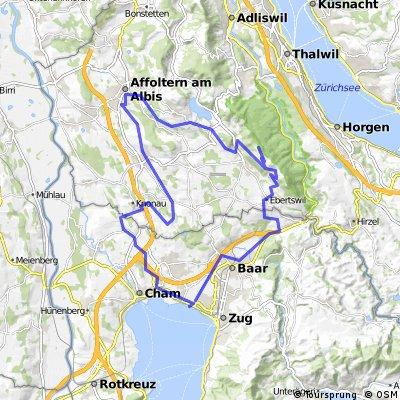 Zug - Albishorn - Affoltern - Zug