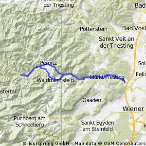 Piestingtal, Biedermeiertal ab Steinabrückl