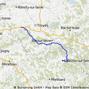 3ème étape Châtillon-sur-Seine/Estissac