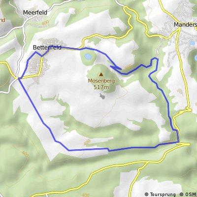 Bettenfeld -> Heidsmühle -> Wolfsschlucht -> Dreisborn -> Bettenfeld