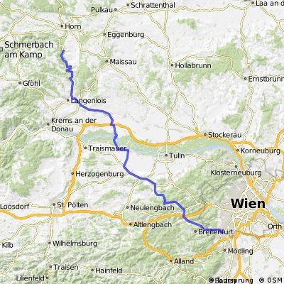 Perchtoldsdorf - Fels am Wagram - Gars am Kamp