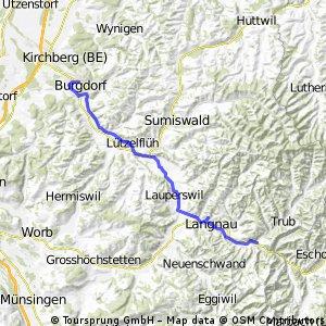Oberes Emmental - Familien-Velo/E-Bike-Route