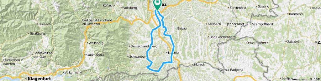 Graz - Gamlitz - Gleinstätten - Graz