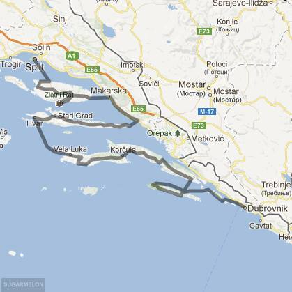 Cycling routes and bike maps in and around Split Bikemap Your