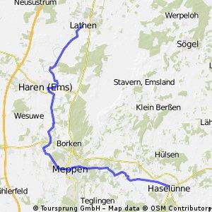 VCP Hollandfahrt 2009 Etappe 2, Möglichkeit 2: Haselünne -Lathen