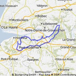 Ablon naar Foret Domaniale de Bretonne
