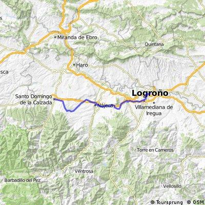 5 tappa: Logrono-Santo Domingo de la Calzada