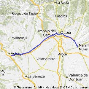 9 Tappa:Mansilla de las Mullas-Astorga