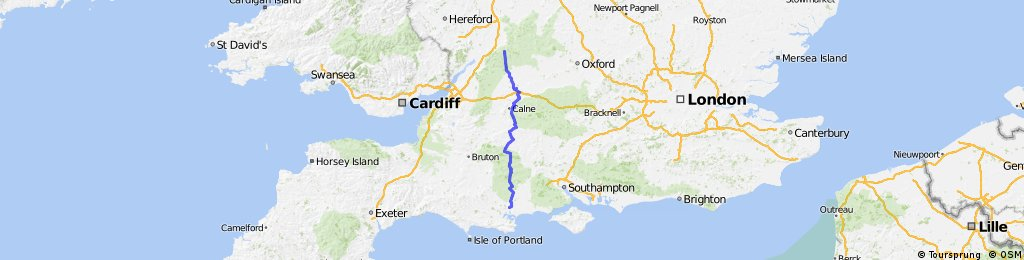 Cowley (Cheltenham) to Broadstone (Poole)