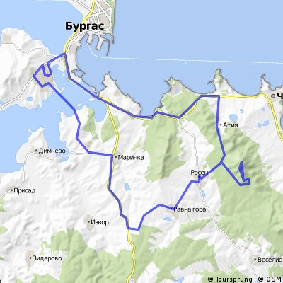 Cycling routes and bike maps in and around Burgas Bikemap Your