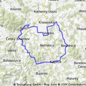 Velešín-Krumlov-Kaplice