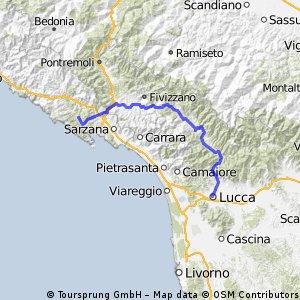 Ricco del Golfo to Lucca