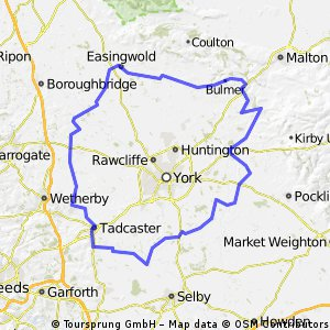 'Welburn, Easingwold, Tadcaster & back to Cawood