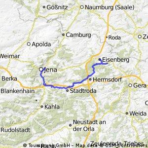 1. Tag  Radtour Thüringer Städtekette