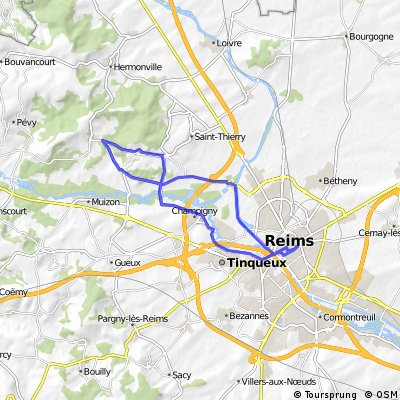 Cycling routes and bike maps in and around Reims Bikemap Your