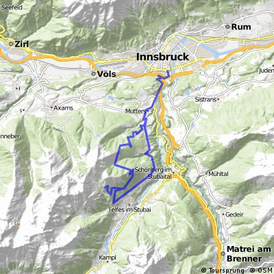 Raitis Alm, Kreither Alm, Pfarrachalm - von Innsbruck