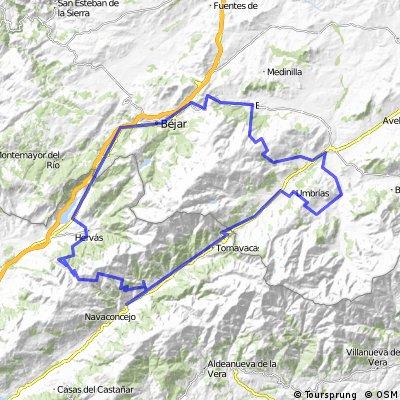 Cabezuela del Valle-Barco-Bejar-Hervas