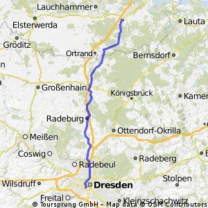 2013 05 16: Rückweg vom reparierten Rad in Ruhland