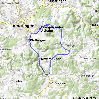 Feierabendrunde Unterhausen, St.Johann, Eningen, Pfullingen