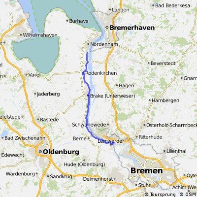 DJH Nordenham nach HB Vegesack Bahnhof