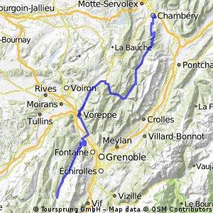 Chambéry-Villard-de-Lans (Variante 1)
