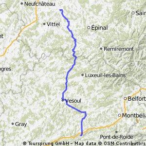 Etape 3 - 2013 : Mirecourt - Baume-Les-Dames