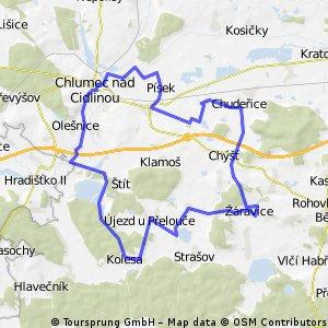 Okruh přes Chudeřice,Žáravice a Kolesa