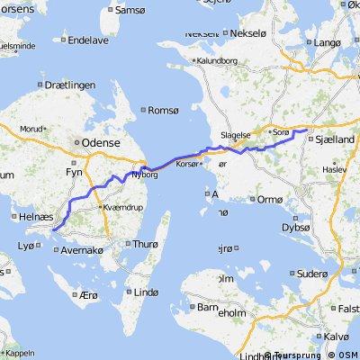 Dänemark-/Schweden-Tour Teil 2 (Faaborg - Ringsted 56,31km)