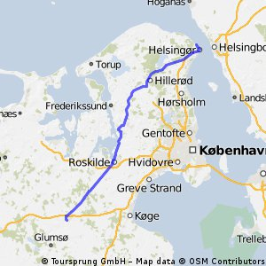 Dänemark-/Schweden-Tour Teil 3 (Ringsted - Helsingør 102,41km)