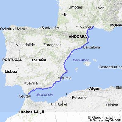 Montpellier to Algeciras