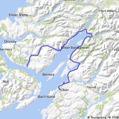 Day 5 Arran to Orkney: Oban to Lochaline