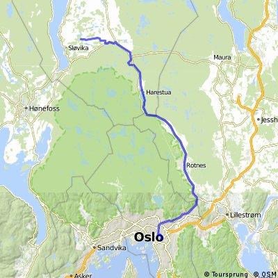 Oslo - Grindvoll langs veien