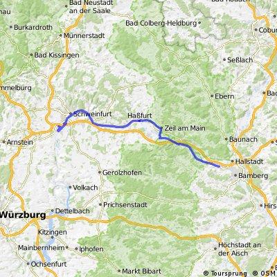 Grafenrheinfeld nach Bischberg / Mainradweg