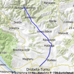 Dr Tr Severin - Halânga - Răscolești - Scînteiești - Izvoru Bârzii - Balotești - Schitul Topolniței