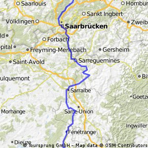 Illingen- Vogesen (Plainfaing) - Tag 1 bis Sarrebourg
