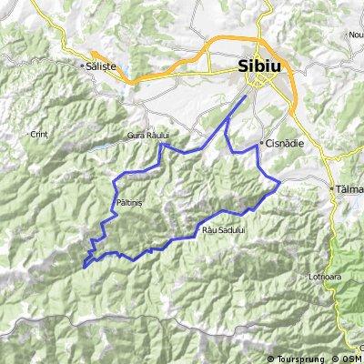 Sibiu-Paltinis-L. Negovanu-Raul Sadului-Sadu-Cisnadioara-Sibiu