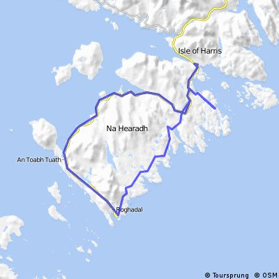 Day 11B Arran to Orkney: circumnavigation of south Harris