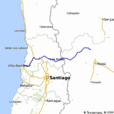 Cruce de los Andes por Villavicencio